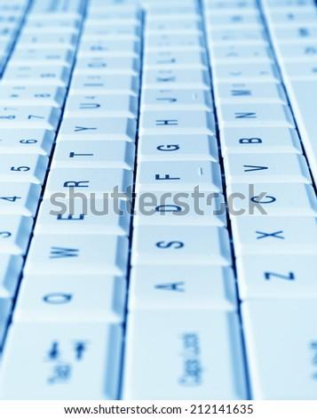 keyboard closeup,shallow DOF - stock photo