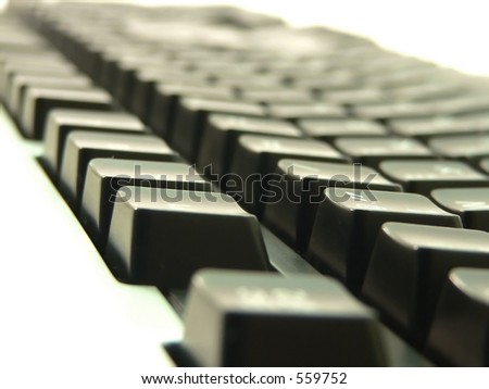 Keyboard closeup view