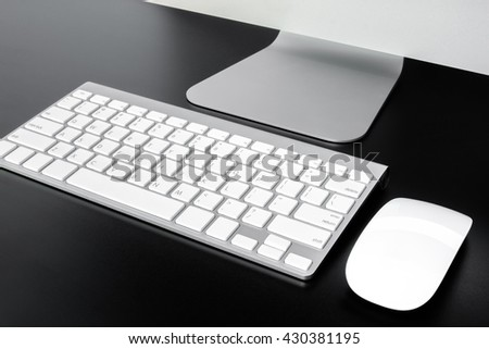 Keyboard computer on table