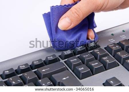 Keyboard is cleaned - stock photo