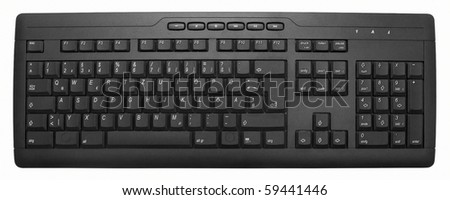 keyboard isolated