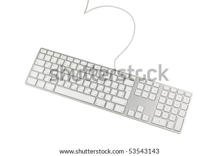 Keyboard isolated on white - stock photo