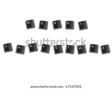 Keyboard keys isolated against a white background - stock photo