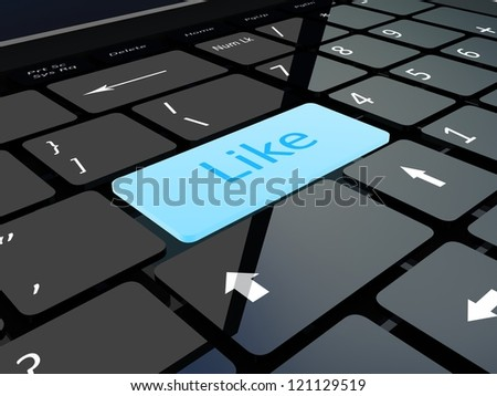 Keyboard like key - stock photo