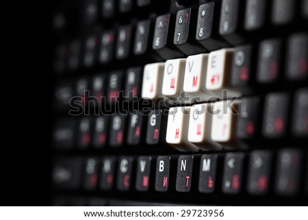 keyboard love key