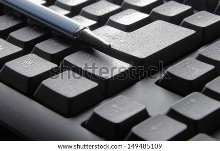 Keyboard of a notebook computer.