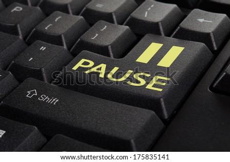 keyboard pause - stock photo
