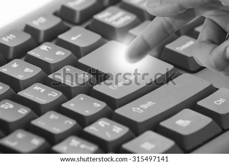 Keyboard, press the soft focus style black and white.