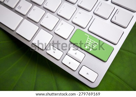 Keyboard - Shopping button - stock photo