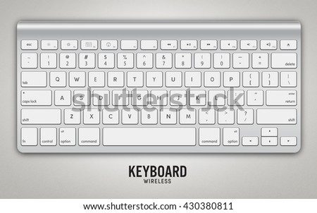 keyboard wireless, 3D illustration [clipping path]