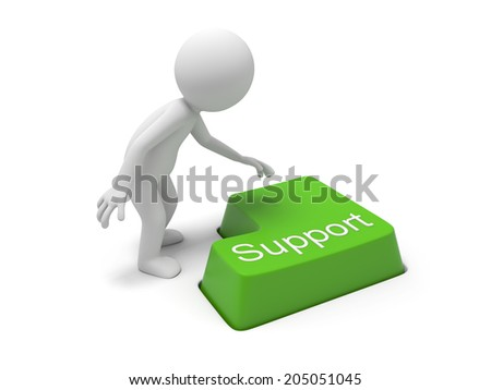 Keyboard with a word support - stock photo
