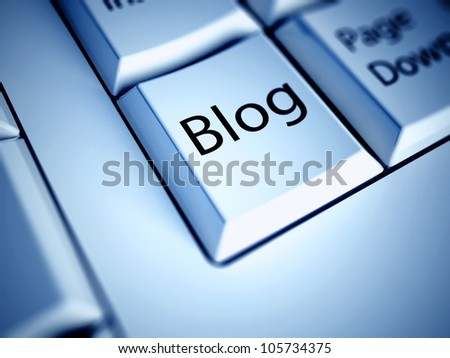 Keyboard with Blog button, internet concept - stock photo