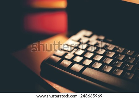 Keyboard with hard light