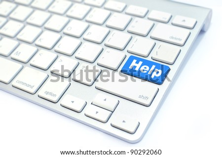 keyboard with help button