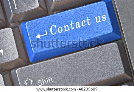 Keyboard with hot key for contact us