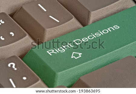 keyboard with hot key for decision