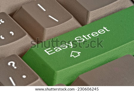 Keyboard with hot key for easy street