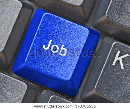 Keyboard with hot key for job