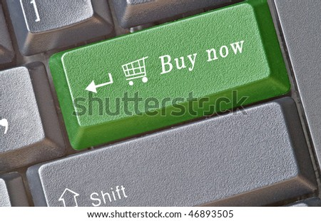 Keyboard with hot key for shopping