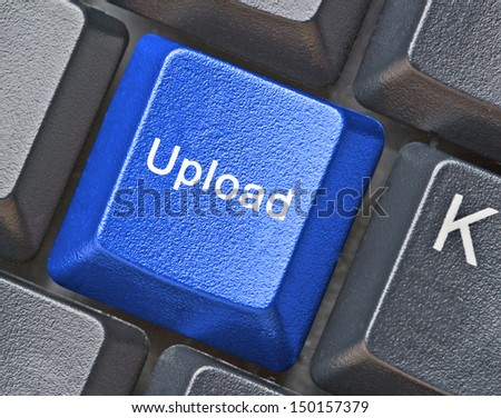 Keyboard with hot key for upload