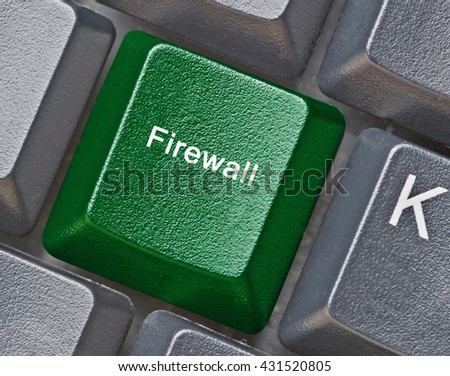 Keyboard with key for firewall