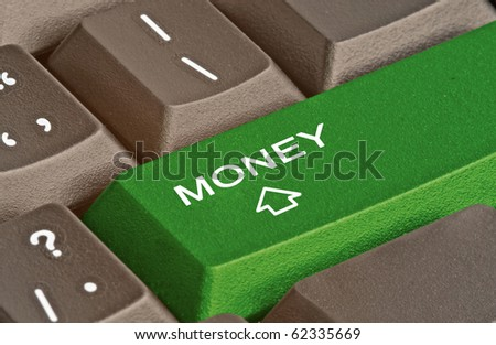 Keyboard with key for money