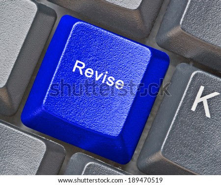 Keyboard with key for revision