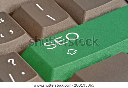 Keyboard with key for SEO