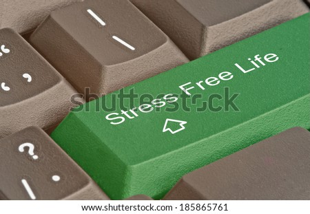 Keyboard with key for stress free life