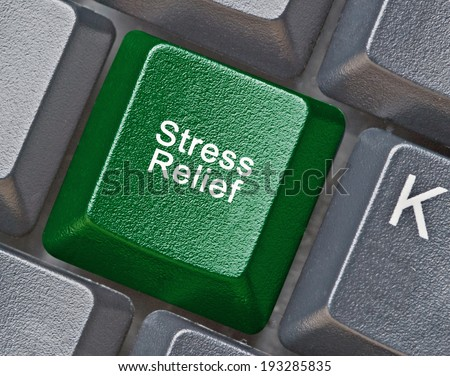 Keyboard with key for stress relief