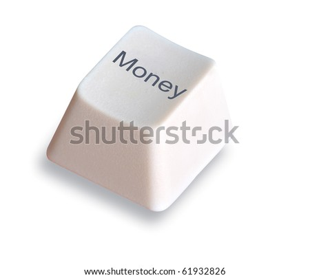 Keyboard with key with E-commerce symbol - stock photo