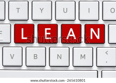 Keyboard with learn buton. Computer white keyboard with learn button - stock photo