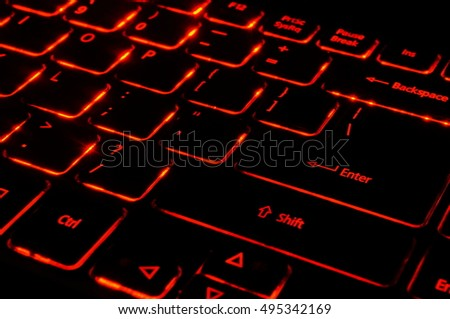 Keyboard with red back light