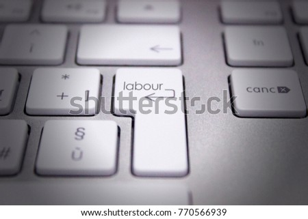 keyboard with text concerning the work