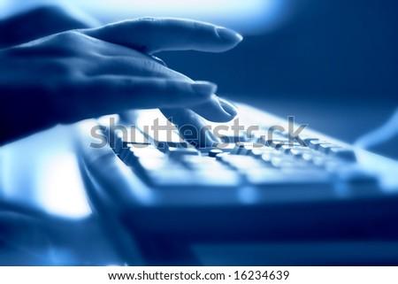 keyboard work - stock photo