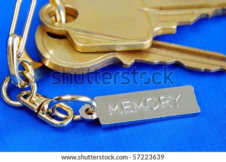 Keychain with the word Memory concepts of remembering the love ones at home