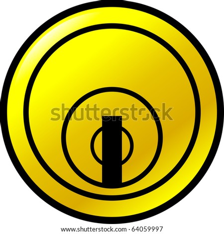 keyhole button - stock photo