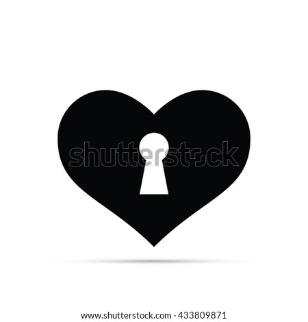 Keyhole Heart Icon.  Raster Version - stock photo