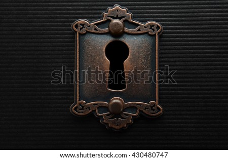 Keyhole on old fashioned door lock imagen de archivo - Old fashioned interior door locks ...