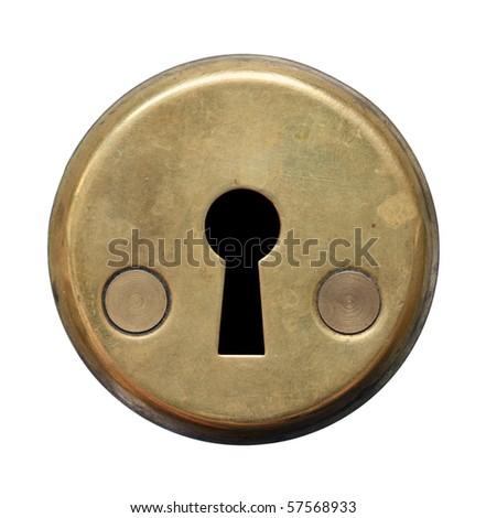 Keyhole on white background. - stock photo