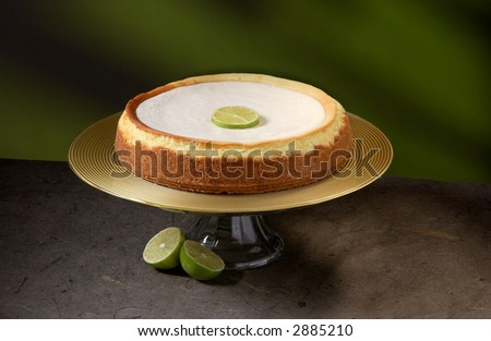 Keylime cheesecake - stock photo