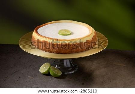 Keylime cheesecake - stock photo