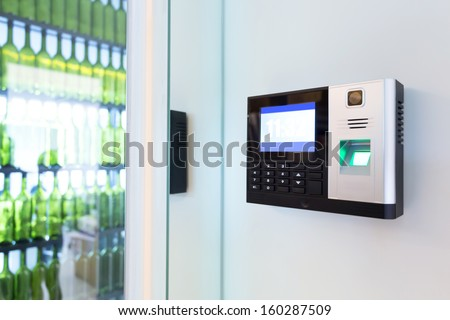 keypad for access control - stock photo