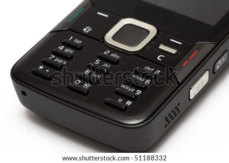 keypad of a mobile phone - stock photo