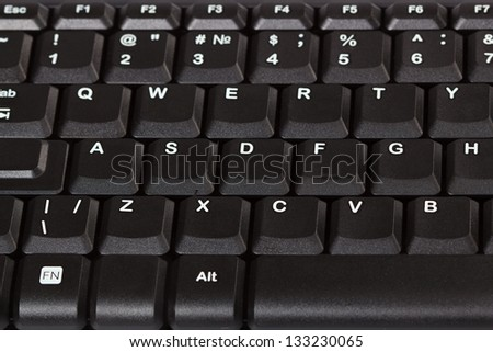 Keys are a computer keyboard