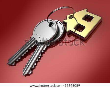Keys. 3d illustration. - stock photo