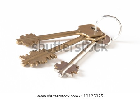 keys isolated on white background