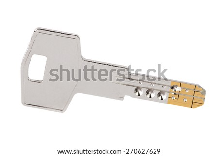 Keys isolated on white background - stock photo