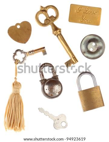 Keys Locks Tags - stock photo