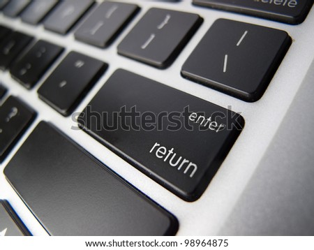 Keys on a Keyboard - stock photo